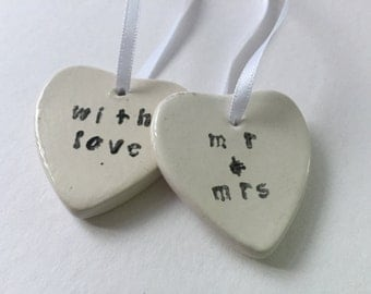 Ceramic gift tags, gift labels, present tags