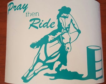 Pray then Ride Other Style Decals