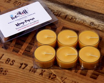 Mango Papaya - Tea  Lights, Scented Candles, Scented Tealights,Tealight Candles , Homemade Candles, Handmade Candle, Mango Tea  Lights