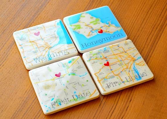 Personalized Coasters Wedding Gift: Wedding Gift Coasters Personalized Coasters By