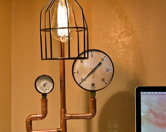 Pressure gauge desk lamp