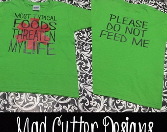 Please Do Not Feed Me - Kids Food Allergy Shirt - Food Allergy Awareness