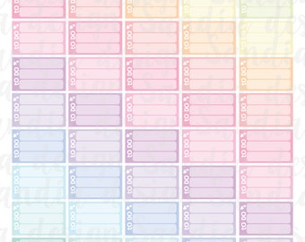 Printable To Do Stickers, Rainbow and Pastels, perfect for EC Planner and other Planners.