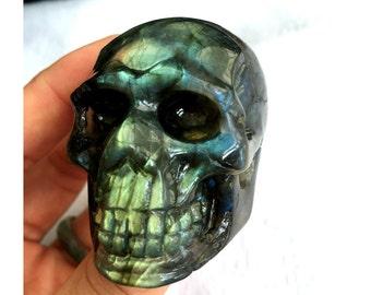 Natural Labradorite Skull Carving ~ Hand Carved Skulls#535