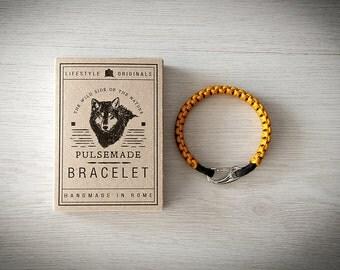 Crab Bracelet men-Women, jewelry for men women, urban bracelet Goldenrod-Black, Valentine's Day gift, bracelet for her and him