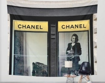 Fashion Wall Hanging Tapestry Chanel Inspired Wall Tapestry, Chanel Decor,  Extra Large Wall Decor Part 87