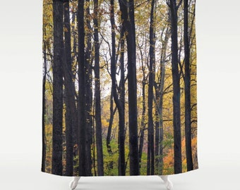 Shower Curtain Forest Tree Nature Art Woodland Photo