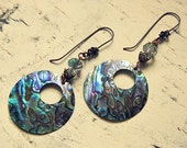 Clearance Jewelry, 50% Off, Abalone Earrings, Abalone Shell Earrings, Abalone Shell Jewelry, Abalone Jewelry, Abalone Accessories