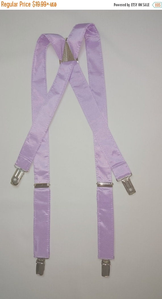 "Sale CLEARANCE  Children's ""Light Lavender"" Taffeta Suspenders and Bow Tie Set"