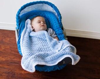 Baby Car Seat Blanket - Lightweight Crochet Car Seat Blanket - Handmade Baby Blanket - Baby Blanket - Stroller Blanket - Unique Baby Gift