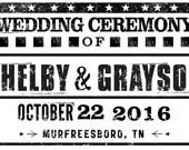 Wedding Signs and Program