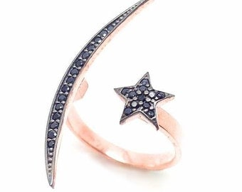 Moon&Star silver ring