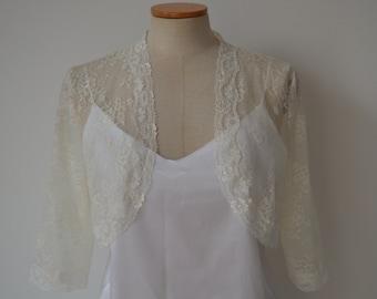 Marriage, cache shoulder bridal ivory lace Bolero