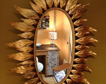 Mirror golden leaves