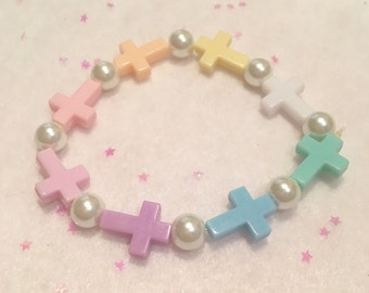Cute Fairy Kei Cross Bracelet Set