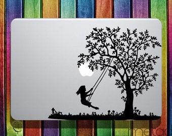 "Swinging on Tree Macbook Sticker Decal 13"" 15"" - laptop stickers, macbook stickers, macbook decals, macbook sticker"
