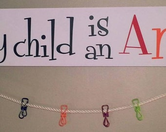 Every Child Is An Artist ... Artwork/Momento Holder