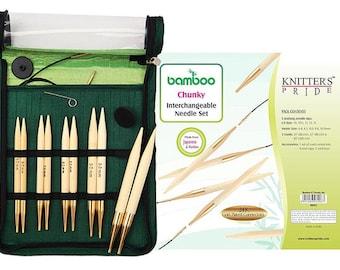 Knitter's Pride Bamboo Interchangeable Circular Knitting Needles Chunky Set #900523 ***Free Shipping***