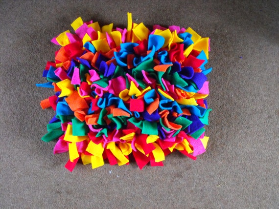 Snuffle Rug For Dogs Cats Puzzle Food Treat Maze Mental