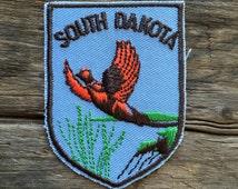 South Dakota Vintage Souvenir Travel Patch from Voyager