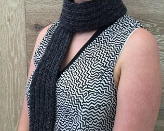 Knitted grey scarf, mens scarf, ladies scarf, winter scarf,mens grey scarf, ladies knitted scarf, knitted scarf, mens knitted scarf