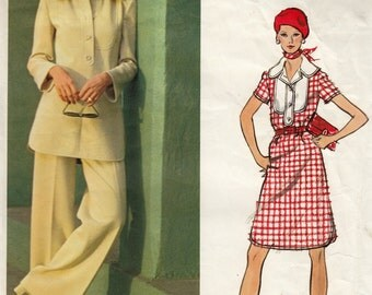 Vintage Christian Dior Sewing Pattern, Dress Sewing Pattern, Pants Sewing Pattern, Vogue 2717 Partially Cut Sewing Pattern