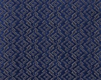 SCALAMANDRE ETHNIC CHIC Echo Velvet Fabric 10 Yards Midnight Navy