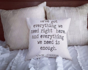 Jack Johnson Quote|Pillow Cover