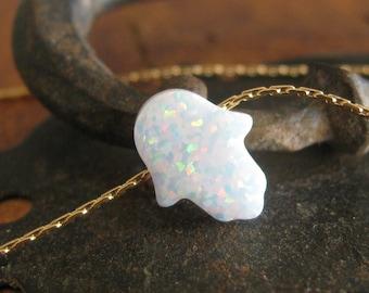 Opal hamsa necklace, opal necklace, white opal necklace, evil eye necklace, gold filled necklace, opal jewelry, opal hand jewelry