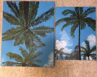 Overhead Palm Trees