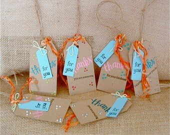 Thanks Gift Tags Set of 6