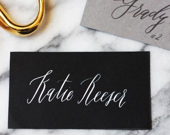 Custom Cut-to-Size Calligraphy Placecards