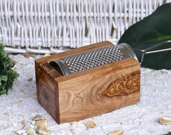 Parmesan / Cheese Grater in olive wood