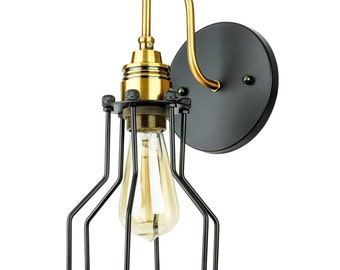 Sunlite Open Cage Canopy Wall Sconce Vintage Copper Bronze