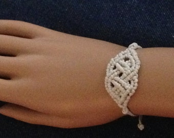 Celtic Knot Woven Lace Macrame Friendship Bracelet