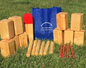 Outdoor Vikings Yard Game  aka KUBB ~ Outdoor yard dice ~ Yard games ~ Lawn dice ~ Lawn games ~Yahtzee, Farkle,  Jenga