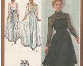 Gunne Sax by Jessica, Vintage Simplicity #9585 Women's Dress Pattern, Size 14