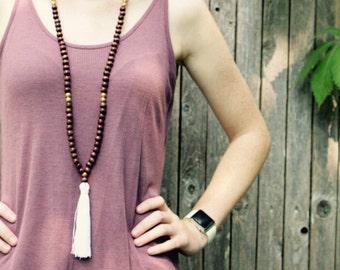 Wooden Double Wrap Necklace
