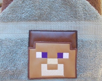 Mindcraft Hooded Towel. Great for bath/pool/beach.  Towel wraps are great for all ages. Great Gift idea!