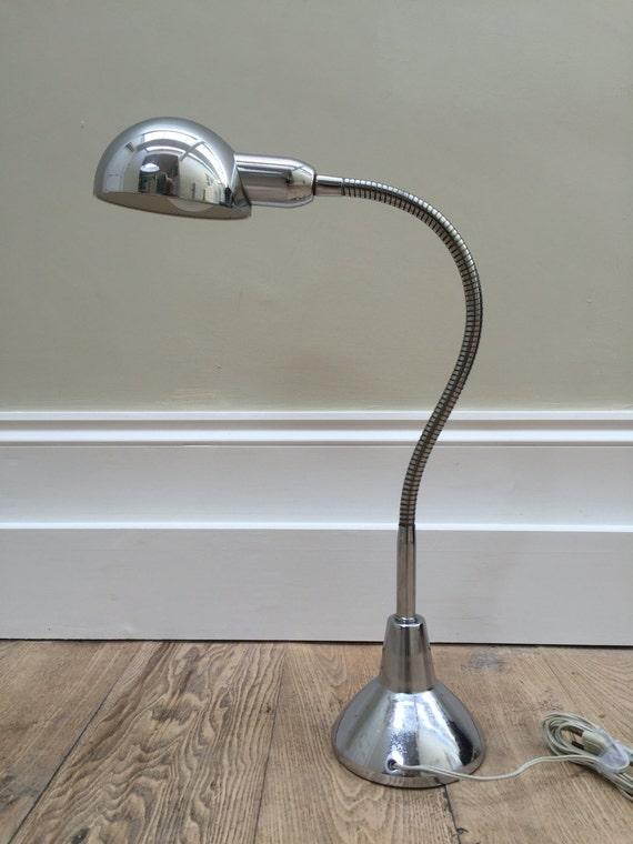 Jumo model 210 French industrial Modernist retro Gooseneck chrome Art Deco style desk lamp