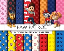 30% OFF SALE Paw Patrol digital paper,Paw Patrol paper,Paw Patrol clipart,scrapbook,background,texture,printable party PP001