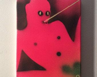 "Body Flo55 10""x8"" original painting"