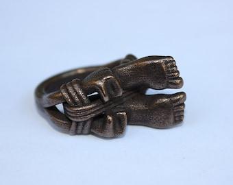 Large Hogtie Fetish ring