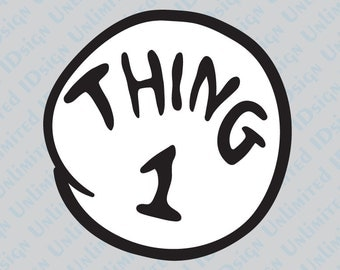 Thing 1 and Thing 2 Decals!