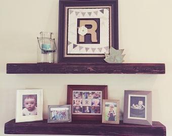 Rustic Wood Floating Shelves, Floating Shelf, Rustic Home Decor, Farmhouse Shelf