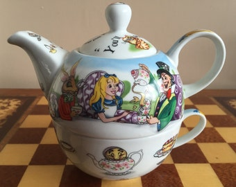 Alice in Wonderland Tea for One teapot & cup 150th anniversary Paul Cardew