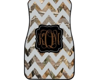 Camo Monogrammed Car Mats! Design your Own! Real Tree Inspired