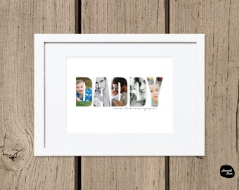 DAD & DADDY DESIGNS ~ Personalised photo words - Wall Art - Printable Digital File - Great Gift Idea