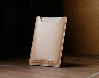 Kangaroo Leather Card Holder, Australian, Natural (undyed), Cardholder, Small Wallet, MoneyClip, Slim, Thin, Card Wallet, Personalised