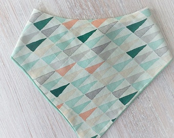 Modern Gender Neutral Triangle Geometric Print Bandanna Drool Baby Bib